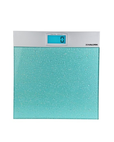 Kalorik Electronic Bathroom Scale, Aqua/Silver