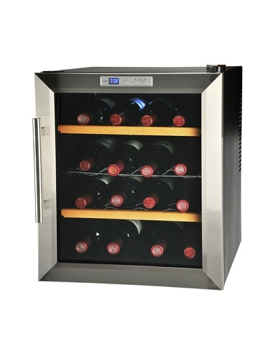 Kalorik 16-Bottle Wine Cooler [Black/Silver]
