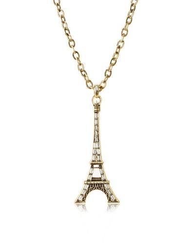 Karine Sultan Crystal Eiffel Tower Necklace