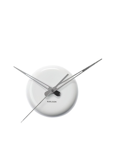 Karlsson Ceramic Dot Wall Clock, White