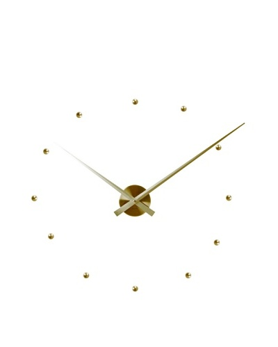 Karlsson Little Big Time DIY Bullets Wall Clock, Gold