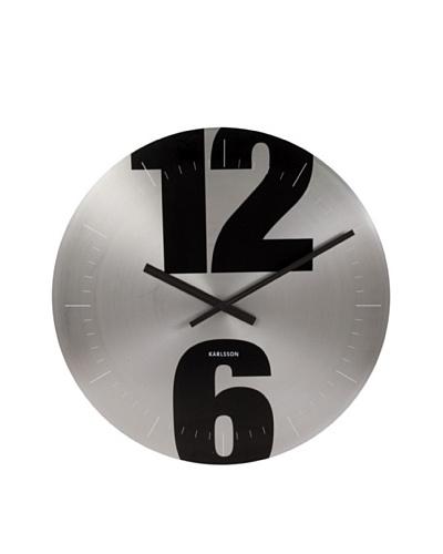Karlsson Mega Disc Wall Clock, Black