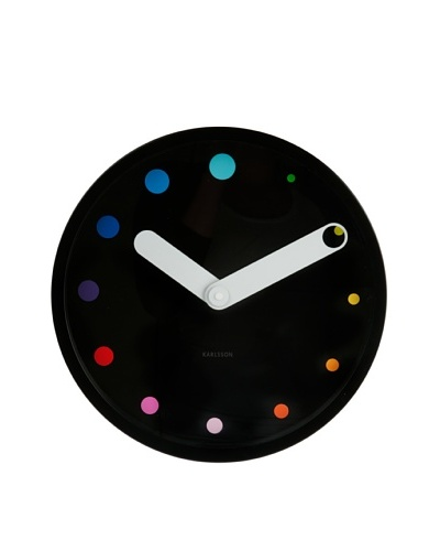 Karlsson Eclipse Steel Wall Clock