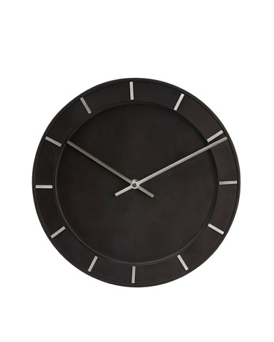 Karlsson Pure Wood Wall Clock, Black