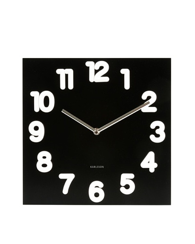 Karlsson Juicy White Number Wall Clock, Black