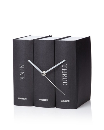 Karlsson Book Table Clock
