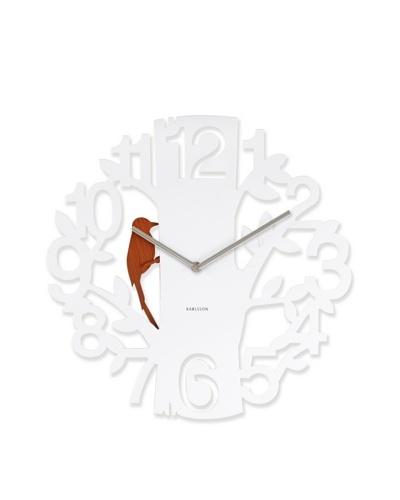 Karlsson Woodpecker Wall Clock, White