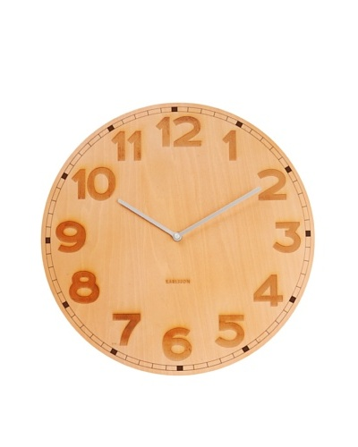 Karlsson Back to Basic Wooden Wall Clock, Natural