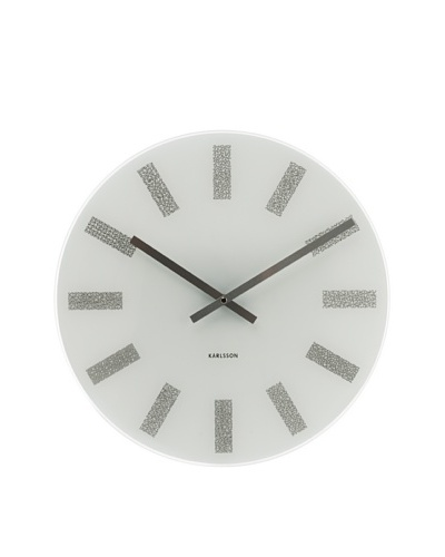Karlsson Station Glass Wall Clock