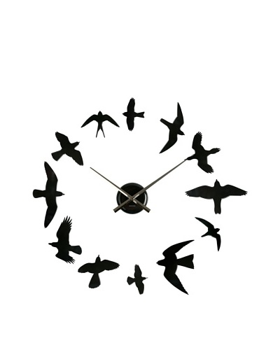 Karlsson DIY Birds Matte Wall Clock, Black