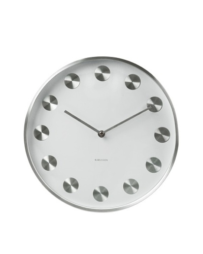 Karlsson Rotation Brushed Steel Wall Clock