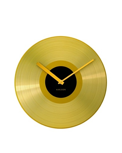 Karlsson Gold Record Wall Clock