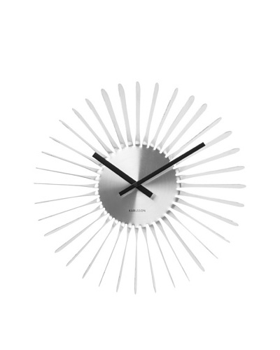 Karlsson Twister Wall Clock, Silver