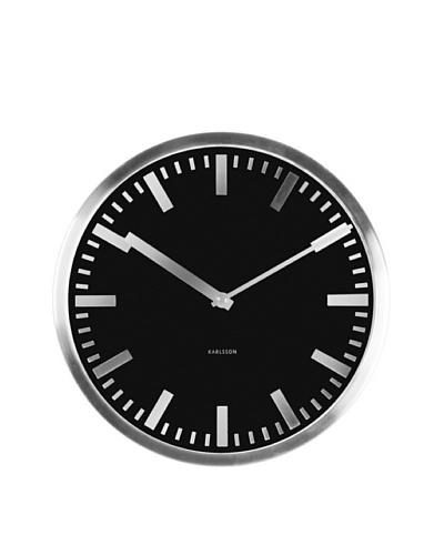 Karlsson Mirror Station Steel Case Wall Clock