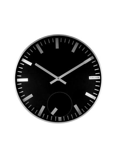 Karlsson Moving Index Steel Wall Clock, Black