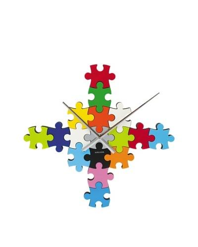 Karlsson DIY Puzzle Wall Clock, Multi Color
