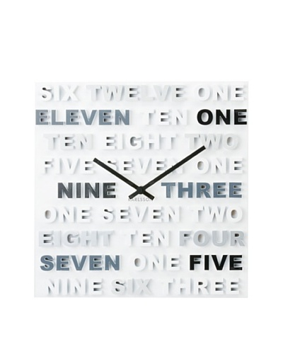 Karlsson One, Two, Three Wall Clock, Black/White