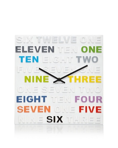 Karlsson One, Two, Three Wall Clock
