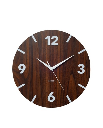 Karlsson Block Numbers Wood Wall Clock