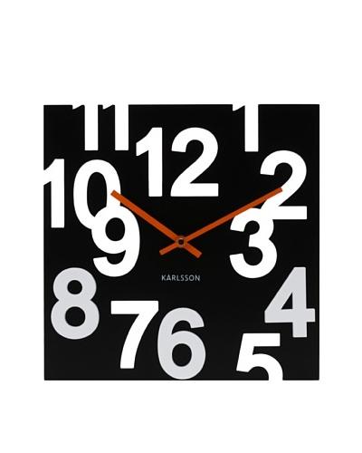 Karlsson Random Numbers Wood Wall Clock