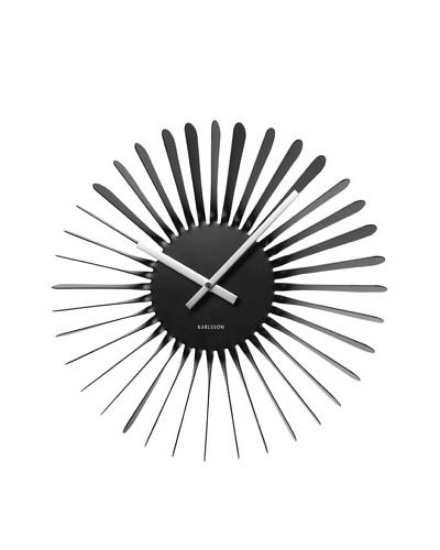Karlsson Twister Wall Clock, Black