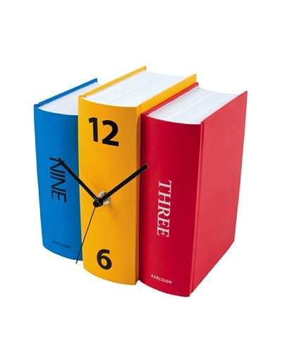 Karlsson Book Table Clock