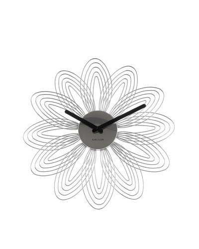 Karlsson Petals Wall Clock, Chrome