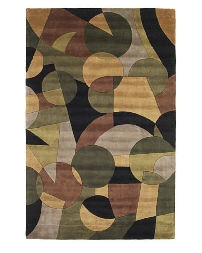 Kas Elements Rug, Green/Black, 2' 6 x 8' Runner