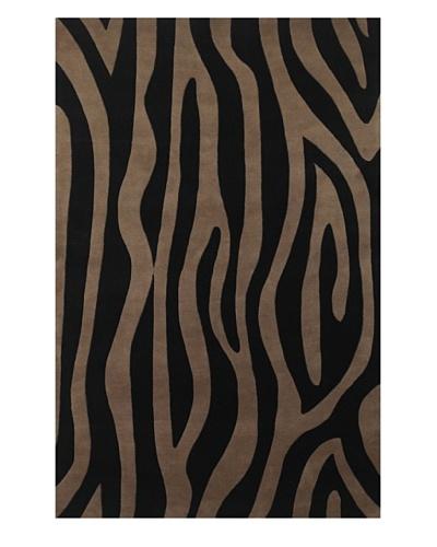 Kas Genesis Rug, Taupe/Black, 5' 3 x 8' 3