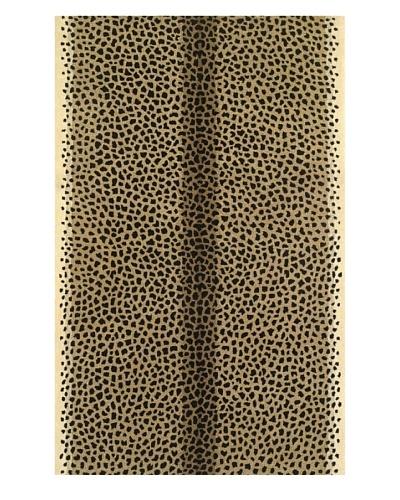 Kas Cheetah Print Rug, Beige, 5' x 8'