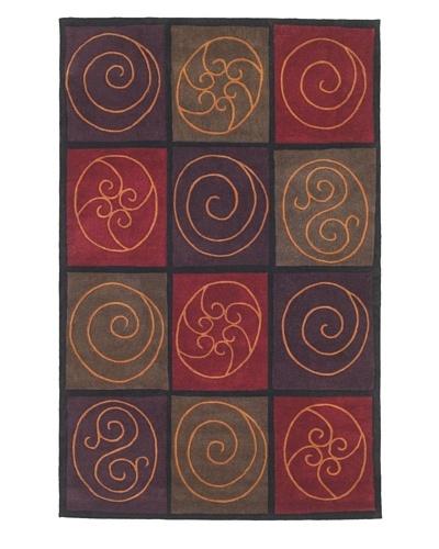Kas Mosaics Rug, Jewel Tone, 5' x 8'