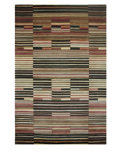 "Kas Contemporary Rug, Multi, 7' 6"" Round"