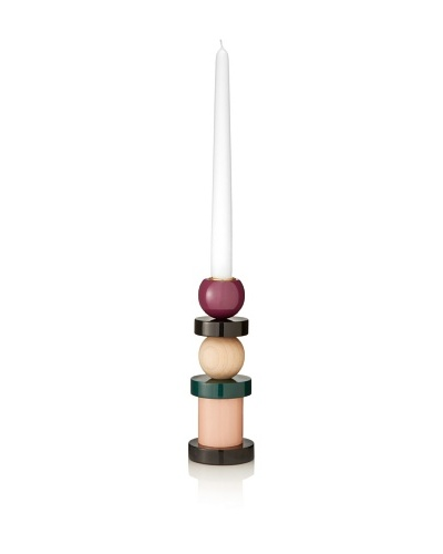 Kate Spade Saturday Painted Maplewood Stacked Candlestick