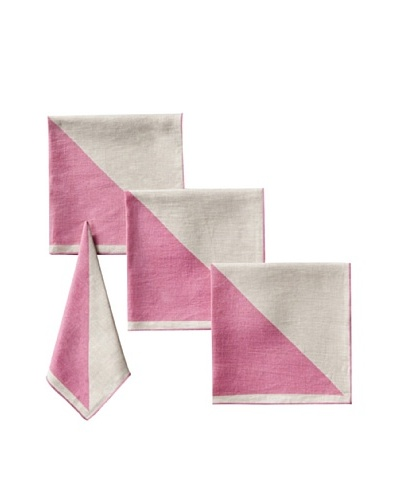 Kate Spade Saturday Set of 4 Graphic Napkins, Bright Magenta/Natural