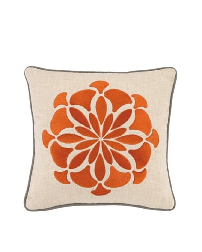 Kate Spain Bahir II Embellished Down Pillow, Orange, 12 x 12As You See
