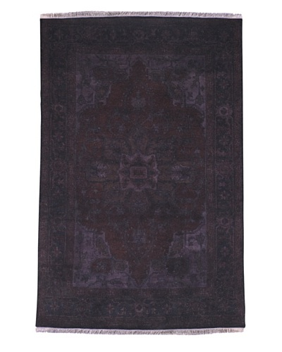 Kavi Handwoven Rugs Tribal Pattern Rug, Purple, 6 'x 9'