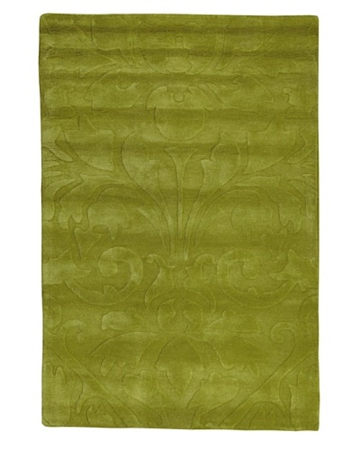 Kavi Handwoven Rugs Contemporary Rug, Green, 4' x 6'