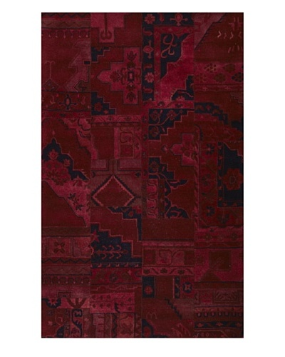 Kavi Handwoven Rugs Palermo Dip-Dyed Rug, Red, 5' x 8'