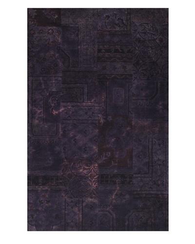 Kavi Handwoven Rugs Palermo Dip-Dyed Rug, Purple, 5' x 8'