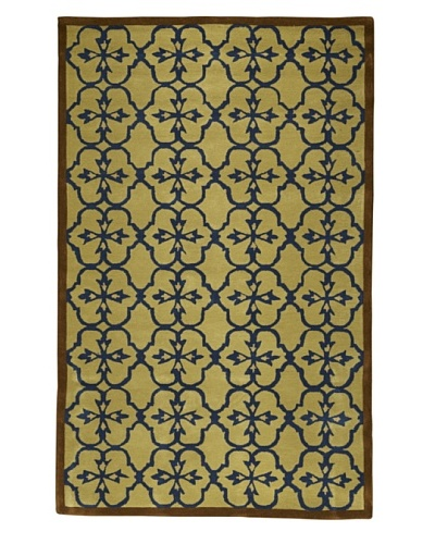 Kavi Handwoven Rugs Contemporary Rug [Taupe/Brown/Blue]