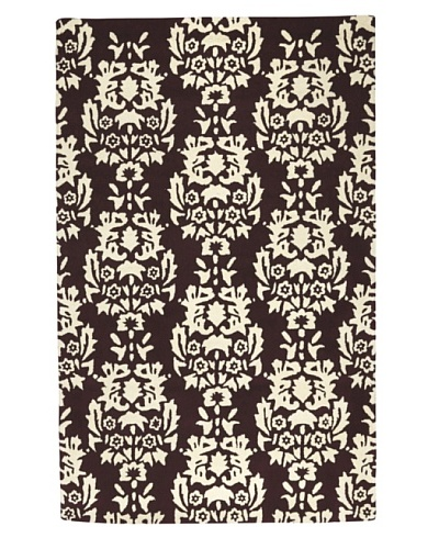 Kavi Handwoven Rugs Contemporary Rug [Brown/Ivory]