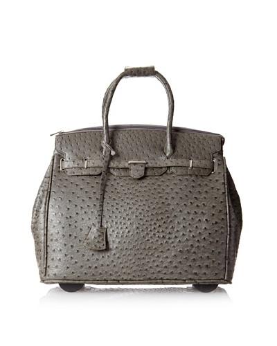 KC Jagger Women's Kendall Rolling Bag, Grey Ostrich