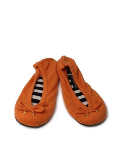 Sofia Cashmere Ballet Slipper, Tangerine, Small (Size 5.5-7 US)