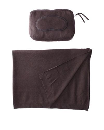 Sofia Cashmere Romagna Jersey Knit Travel Set, Brown