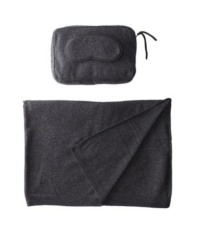 Sofia Cashmere Romagna Jersey Knit Travel Set, Charcoal