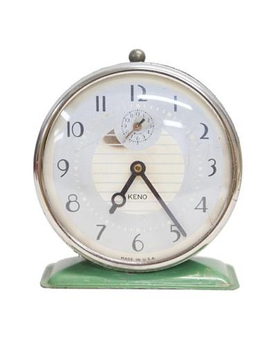 Keno Vintage Alarm Clock, Army Green