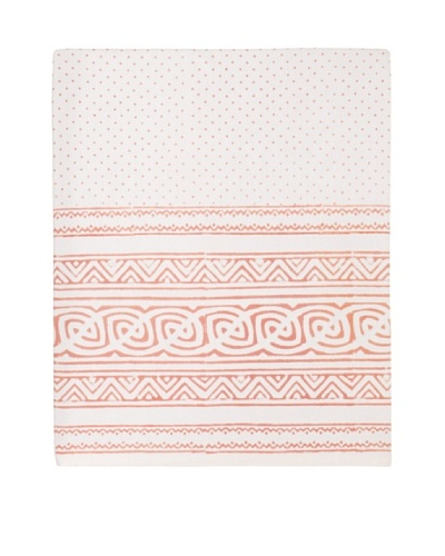 Kerry Cassill Flat Sheet, Tan Dot, Queen/King