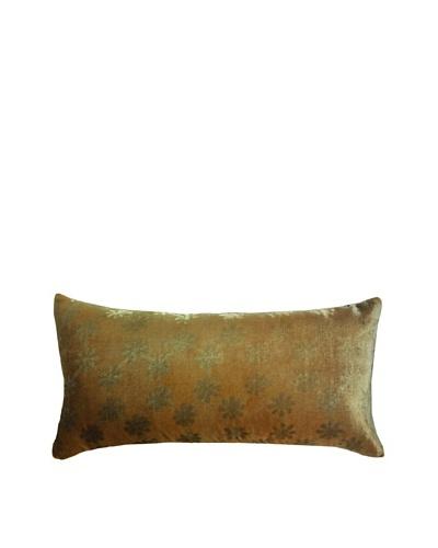 Kevin O'Brien Studio Hand-Painted Devore Velvet Ditsy Pillow
