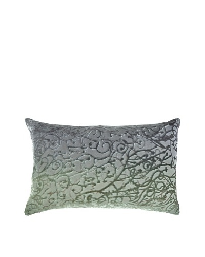 Kevin O'Brien Studio Hand-Painted Devore Velvet Minerva Pillow