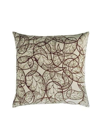 Kevin O'Brien Studio Hand-Printed Cotton Velvet Paisley Pillow